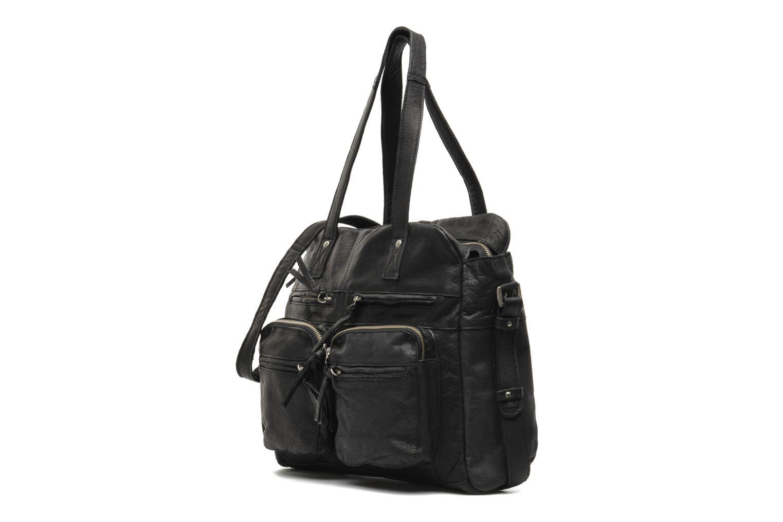 Håndtasker Pieces Mui leather Bag Sort se skoene på