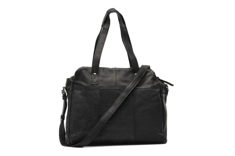 Håndtasker Pieces Mui leather Bag Sort se forfra