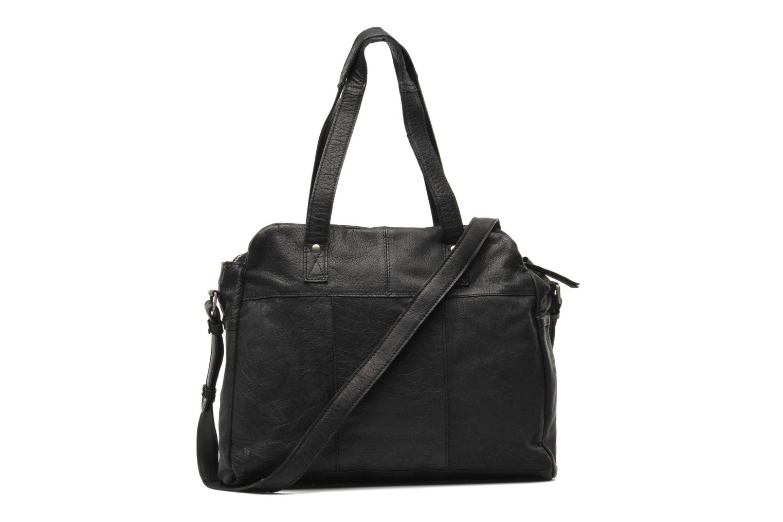 Håndtasker Pieces Mui leather Bag Sort se forfra