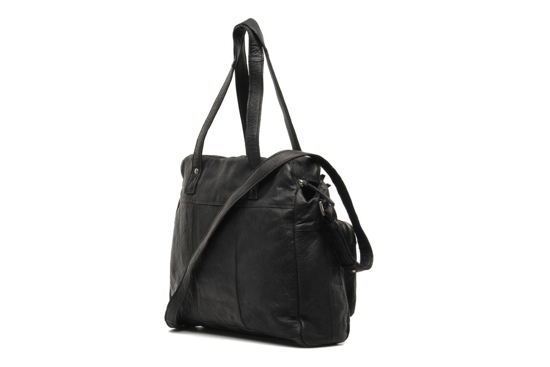 Håndtasker Pieces Mui leather Bag Sort Se fra højre