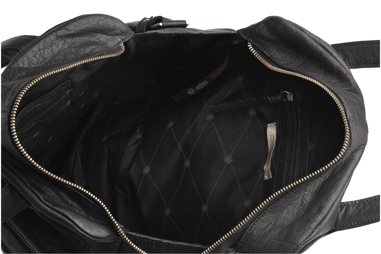 Håndtasker Pieces Mui leather Bag Sort se bagfra