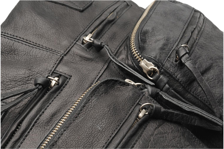 Håndtasker Pieces Mui leather Bag Sort se fra venstre