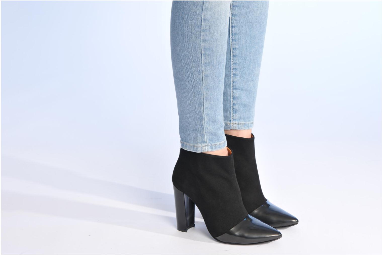 Bottines et boots Made by SARENZA Monceau #12 Noir vue bas / vue portée sac