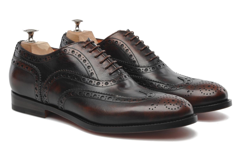 Chaussures à lacets Santoni Stan 08150 Marron vue 3/4
