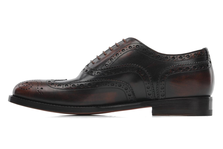Chaussures à lacets Santoni Stan 08150 Marron vue face