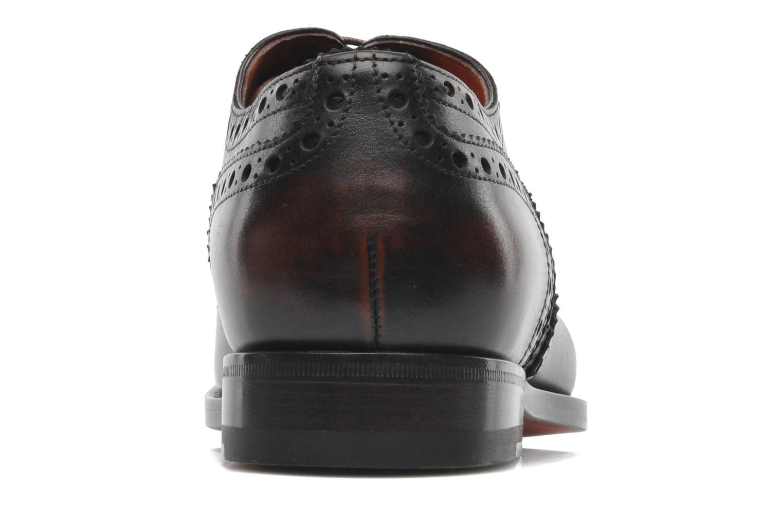 Chaussures à lacets Santoni Stan 08150 Marron vue droite