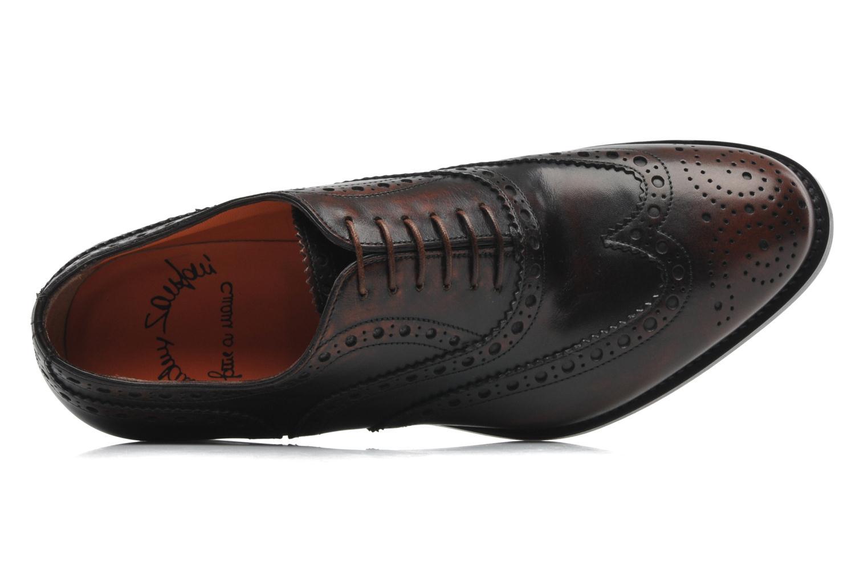 Chaussures à lacets Santoni Stan 08150 Marron vue gauche