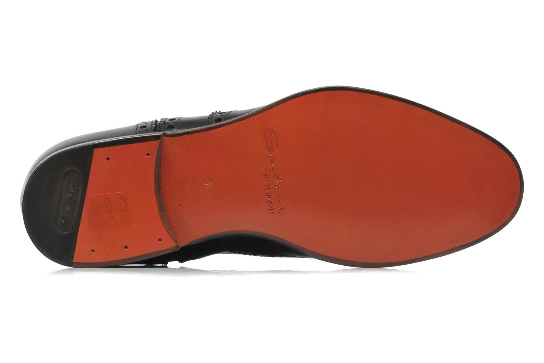 Chaussures à lacets Santoni Stan 08150 Marron vue haut