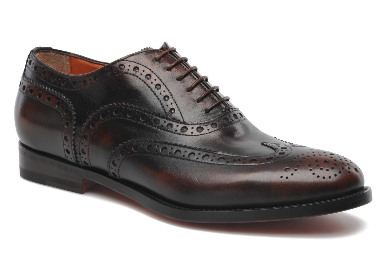 Snøresko Santoni Stan 08150 Brun detaljeret billede af skoene