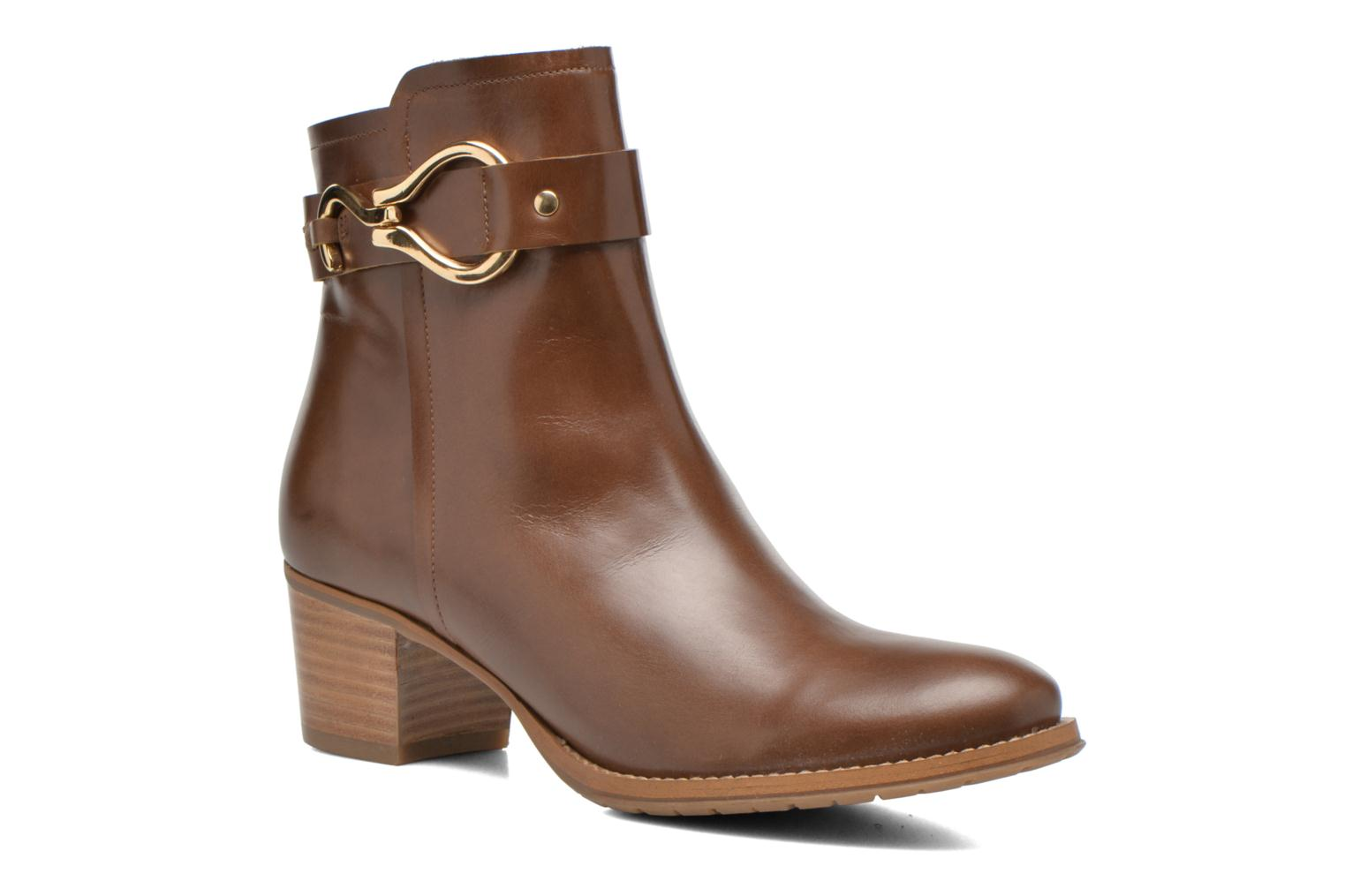 Ankle boots Georgia Rose Cottage Brown detailed view/ Pair view