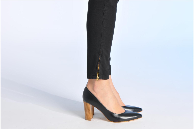 Escarpins Made by SARENZA Glaçons citrons #16 Noir vue bas / vue portée sac