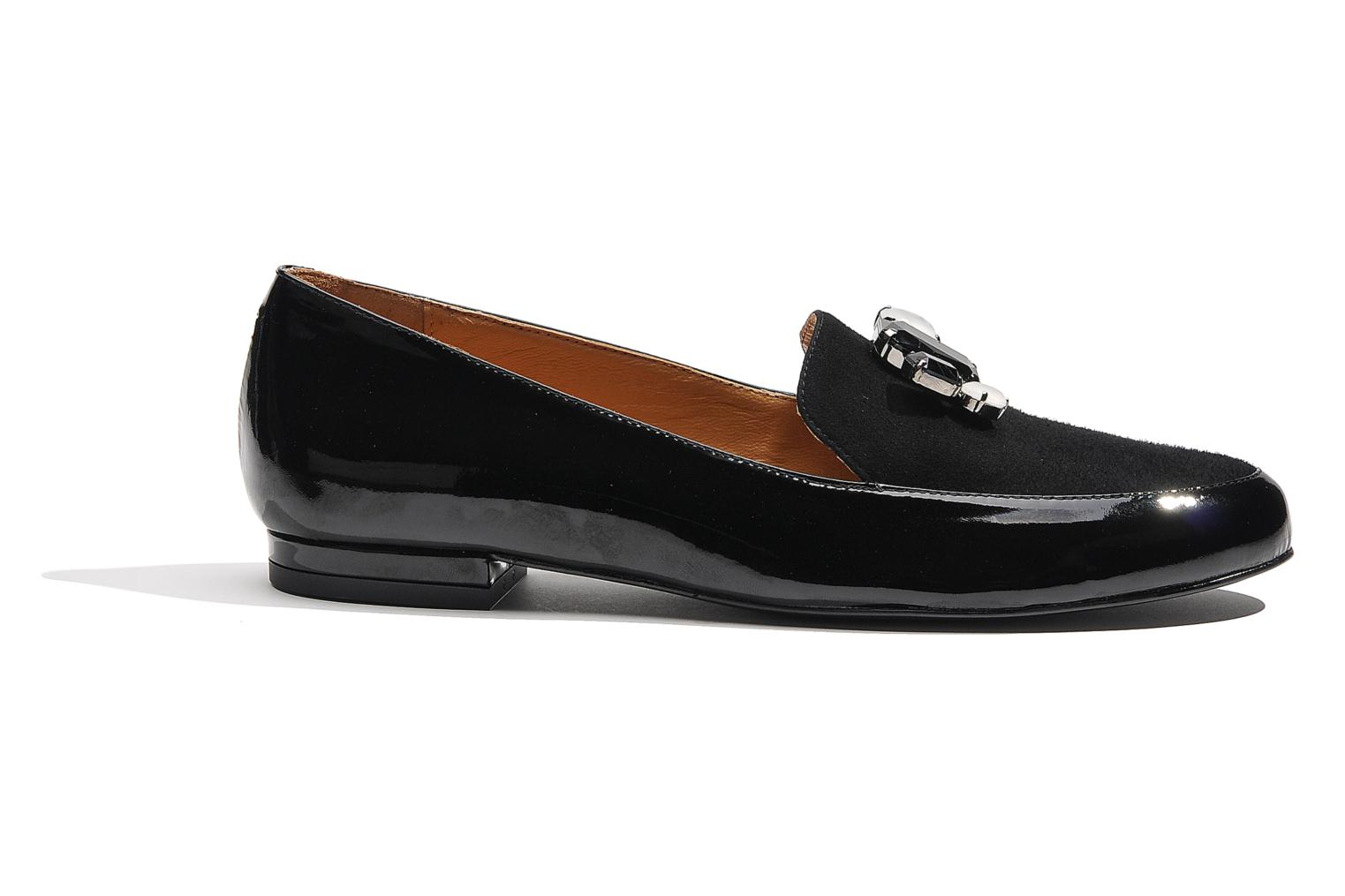 Loafers Made by SARENZA Café With Colette #1 Black detailed view/ Pair view