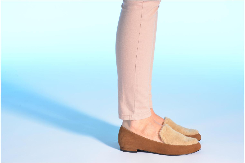 Slipper Made by SARENZA Café With Colette #1 braun ansicht von unten / tasche getragen