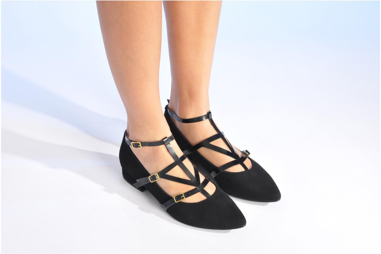 Ballerinas Made by SARENZA Bataclan #1 schwarz ansicht von unten / tasche getragen
