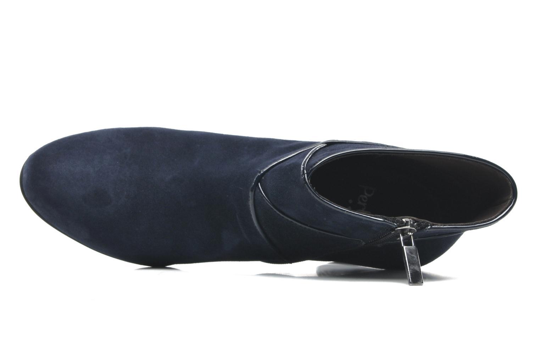 Botines  Perlato Piwi Azul vista lateral izquierda