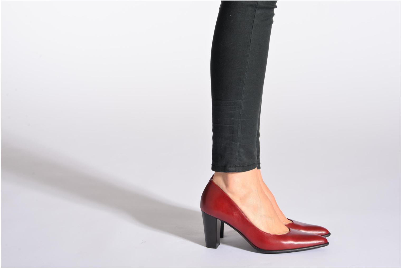 Escarpins Perlato Piaza Rouge vue bas / vue portée sac