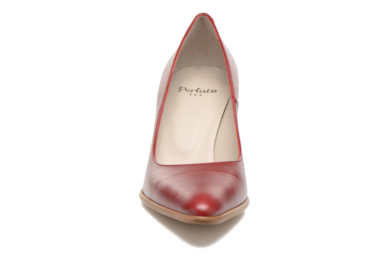 Escarpins Perlato Piaza Rouge vue portées chaussures