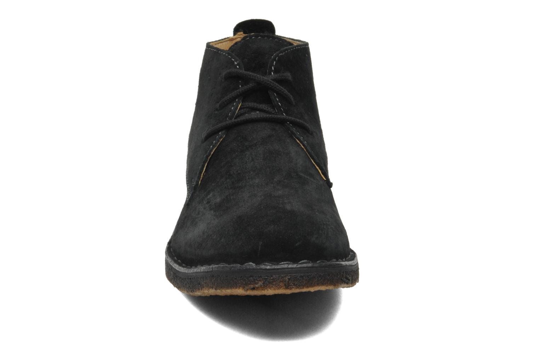 Schnürschuhe Hush Puppies Desert II schwarz schuhe getragen