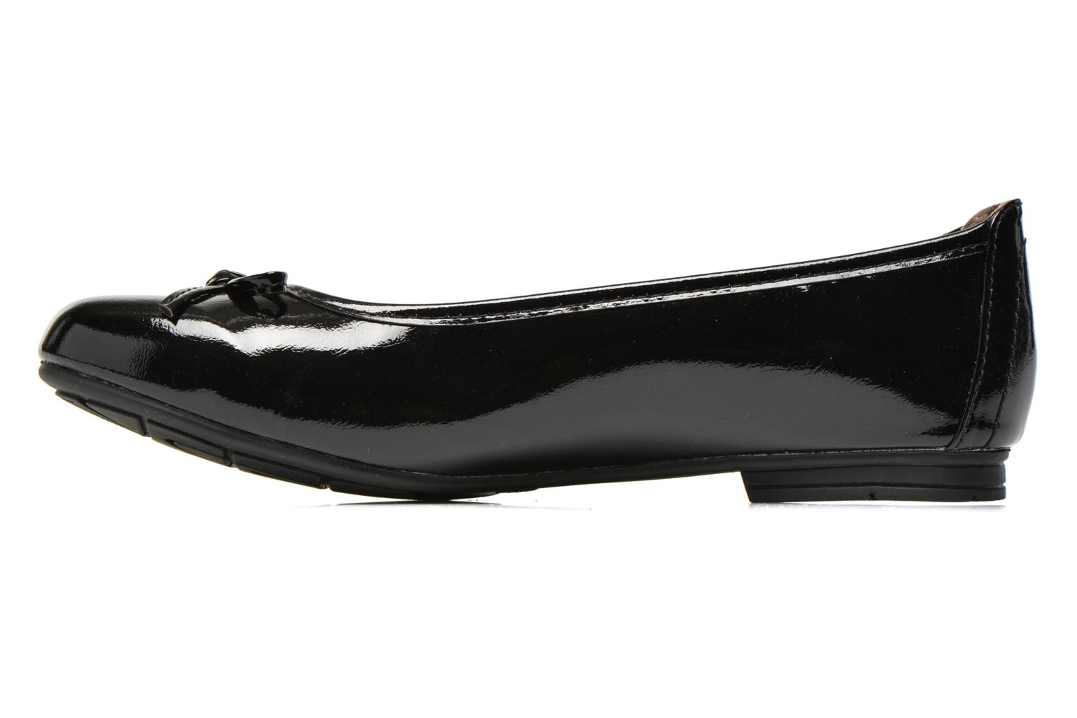 Ballet pumps Jana shoes Lila Black front view