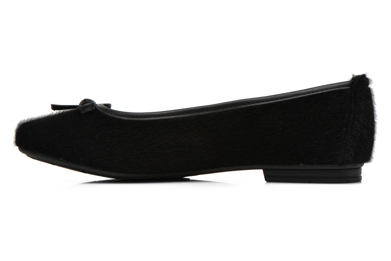 Ballet pumps Jana shoes Lila Black front view