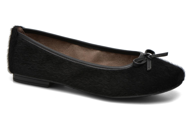 Ballet pumps Jana shoes Lila Black detailed view/ Pair view