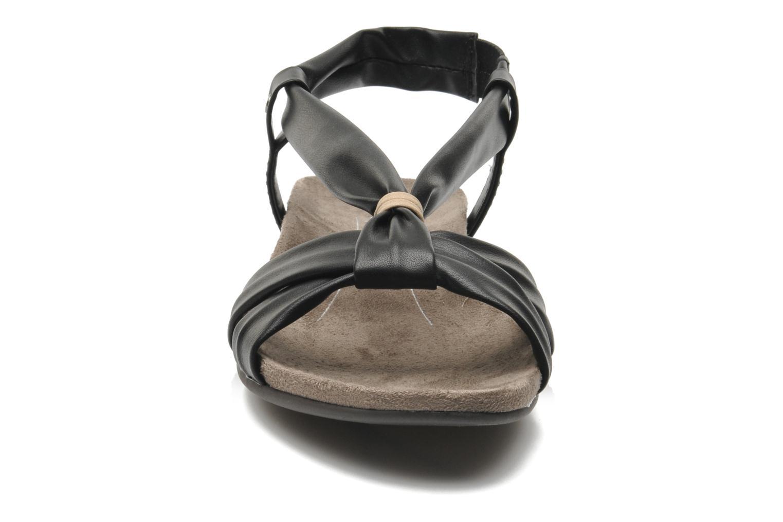 Sandalen Jana shoes Jana schwarz schuhe getragen
