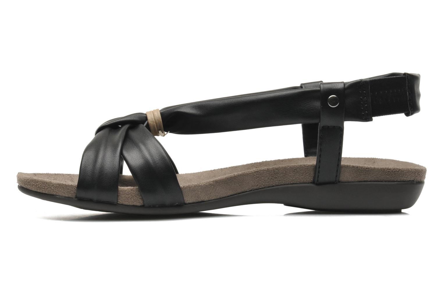 Sandales et nu-pieds Jana shoes Jana Noir vue face