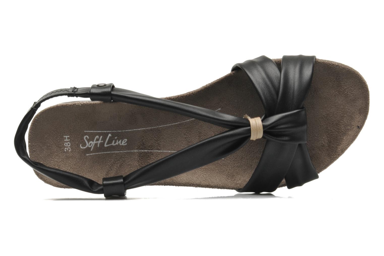 Sandales et nu-pieds Jana shoes Jana Noir vue gauche