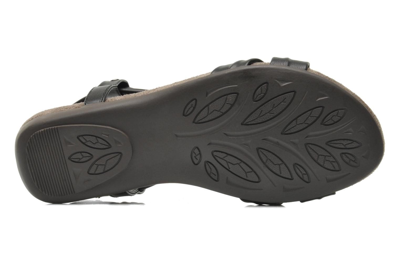Sandales et nu-pieds Jana shoes Jana Noir vue haut
