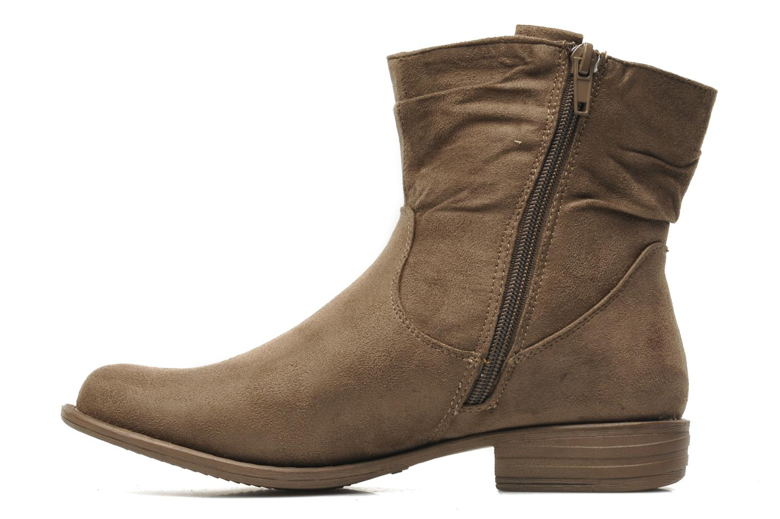 Ankle boots I Love Shoes Thiroir Beige front view