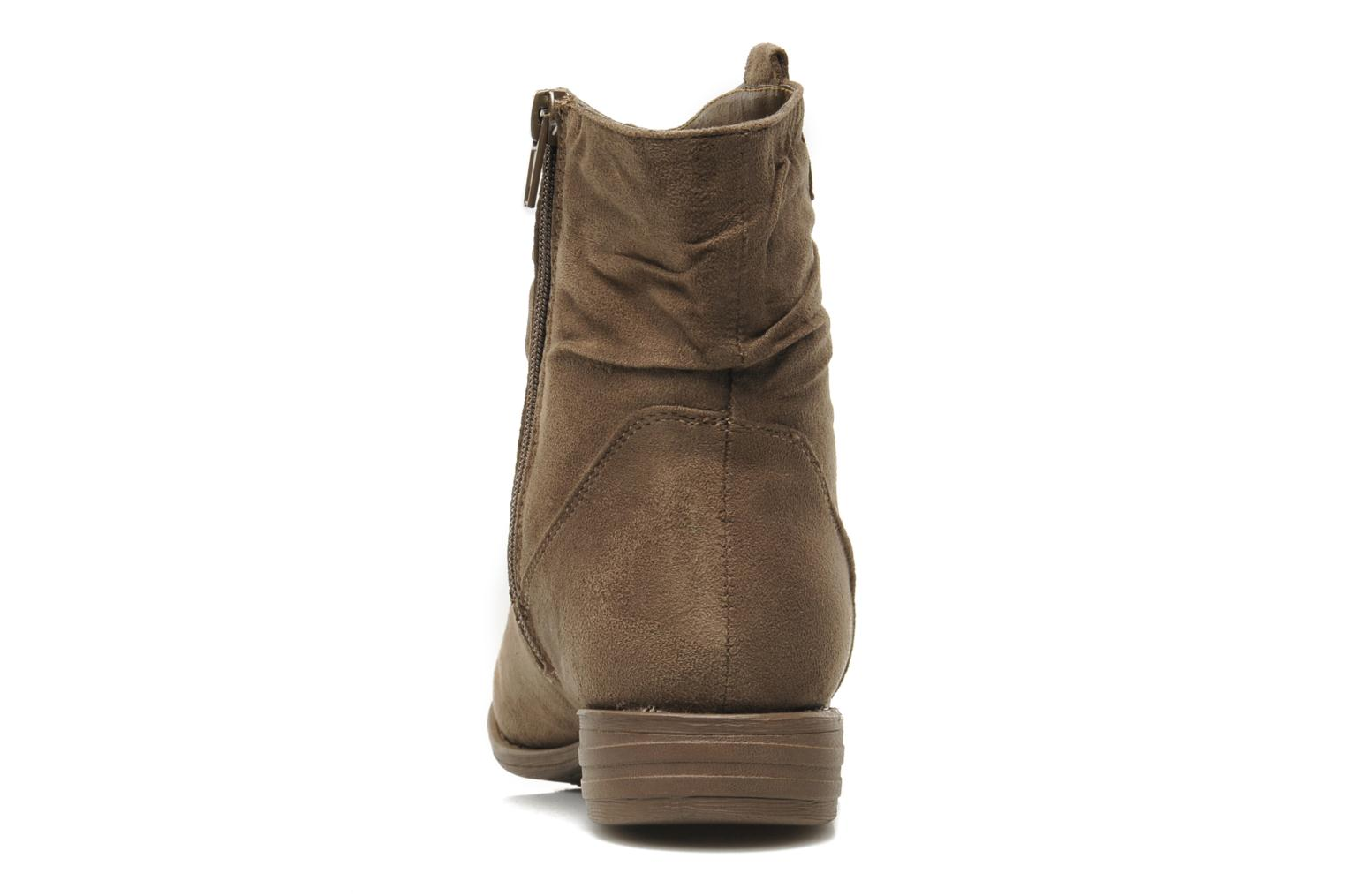 Ankle boots I Love Shoes Thiroir Beige view from the right