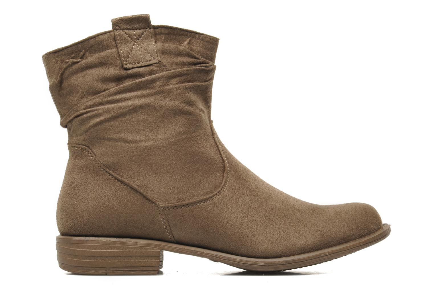 Ankle boots I Love Shoes Thiroir Beige back view