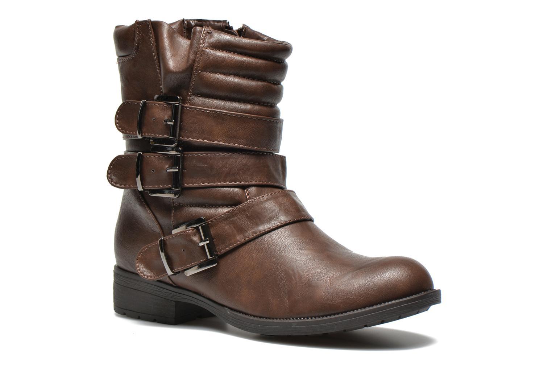 Bottines et boots Divine Factory D-stars Marron vue détail/paire