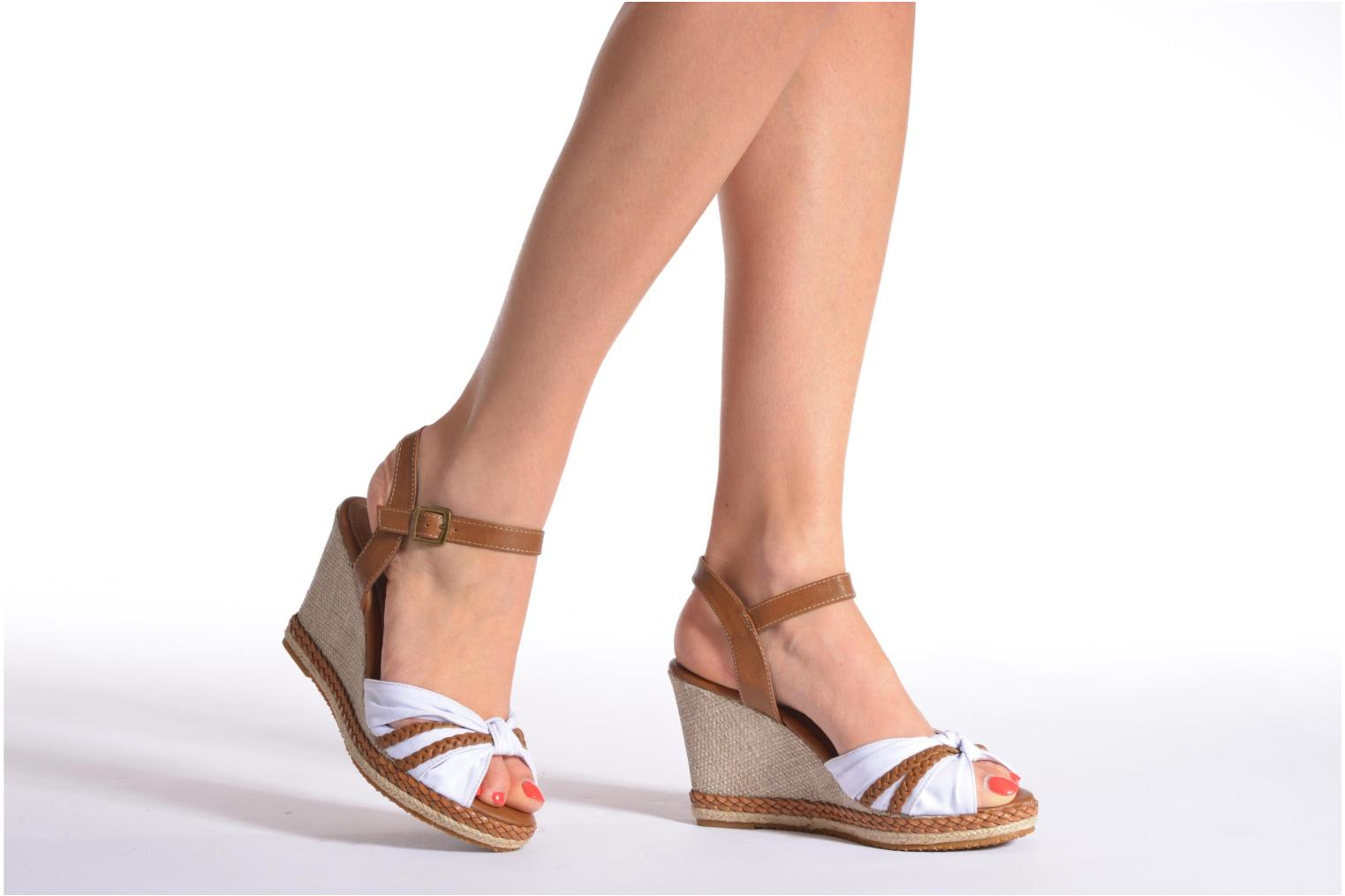 Sandals I Love Shoes Sukifo Beige view from underneath / model view