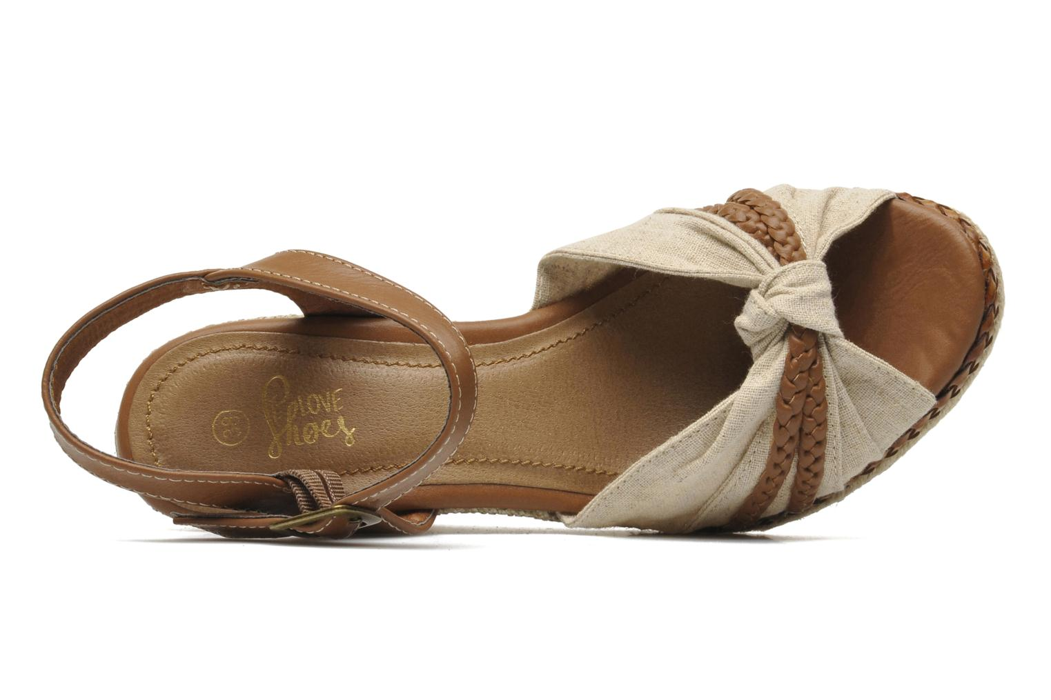 Sandals I Love Shoes Sukifo Beige view from the left