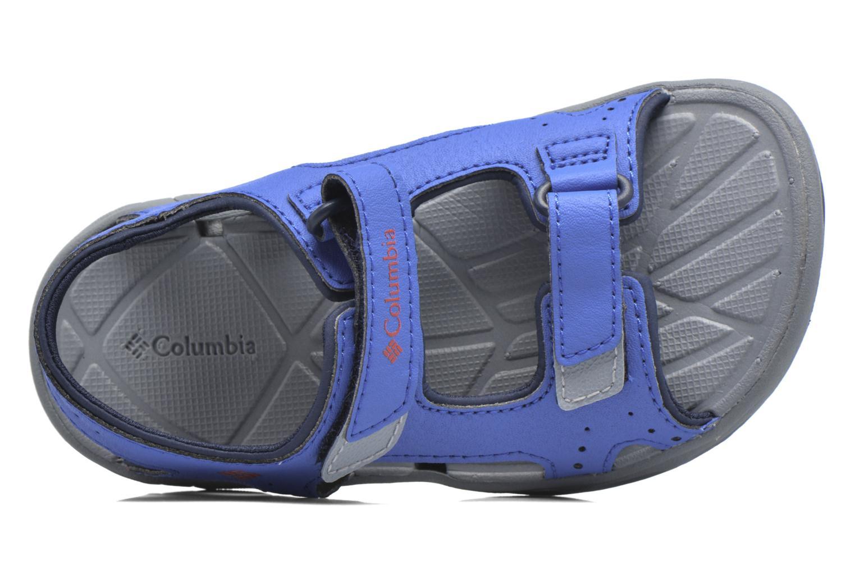 Sandalen Columbia Childrens Techs blau ansicht von links
