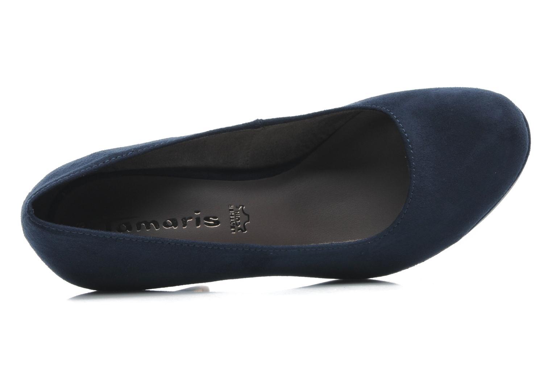 Zapatos de tacón Tamaris Romane Azul vista lateral izquierda
