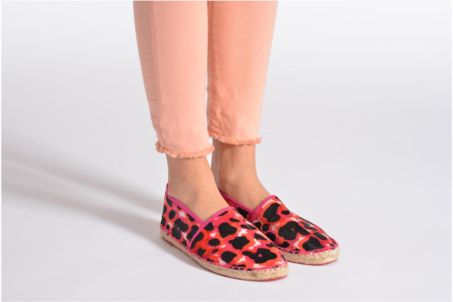 Espadrilles Colors of California Lucy Pink view from underneath / model view