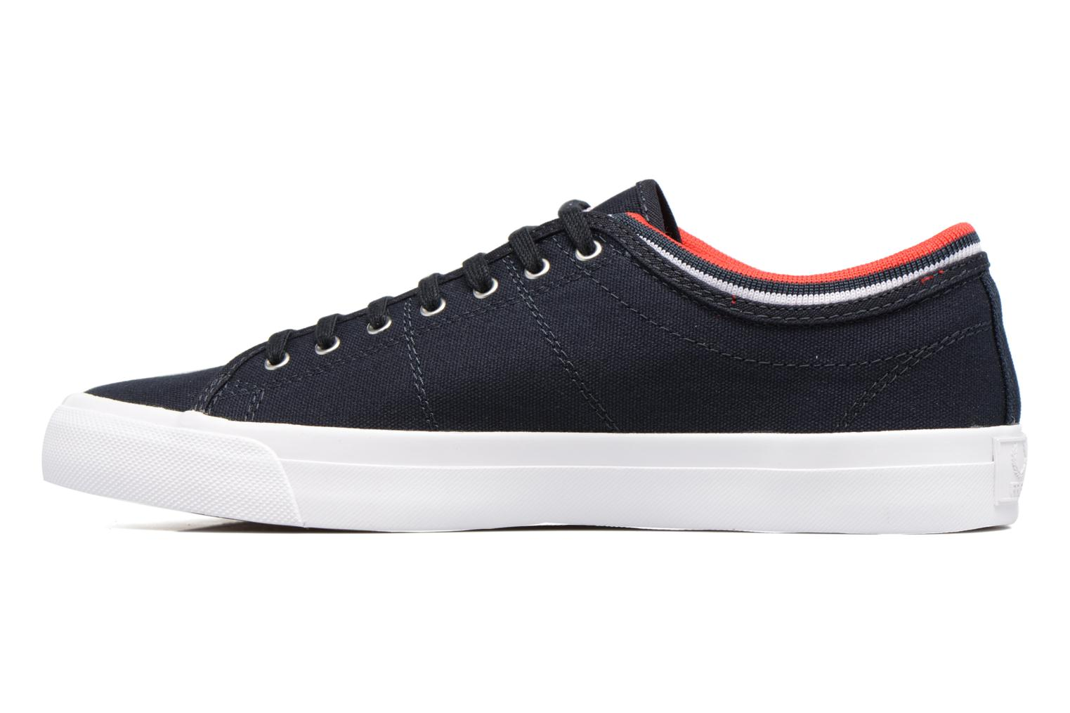Sneakers Fred Perry Kendrick tipped cuff canvas Blauw voorkant