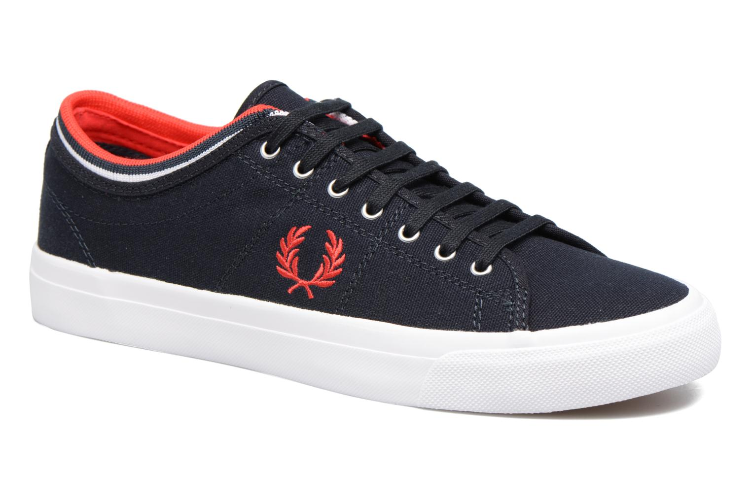 Baskets Fred Perry Kendrick tipped cuff canvas Bleu vue détail/paire