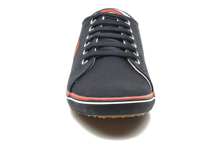 Sneaker Fred Perry Kingston Twill blau schuhe getragen