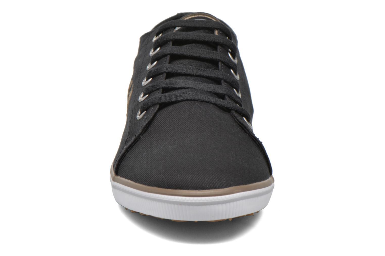 Sneaker Fred Perry Kingston Twill schwarz schuhe getragen