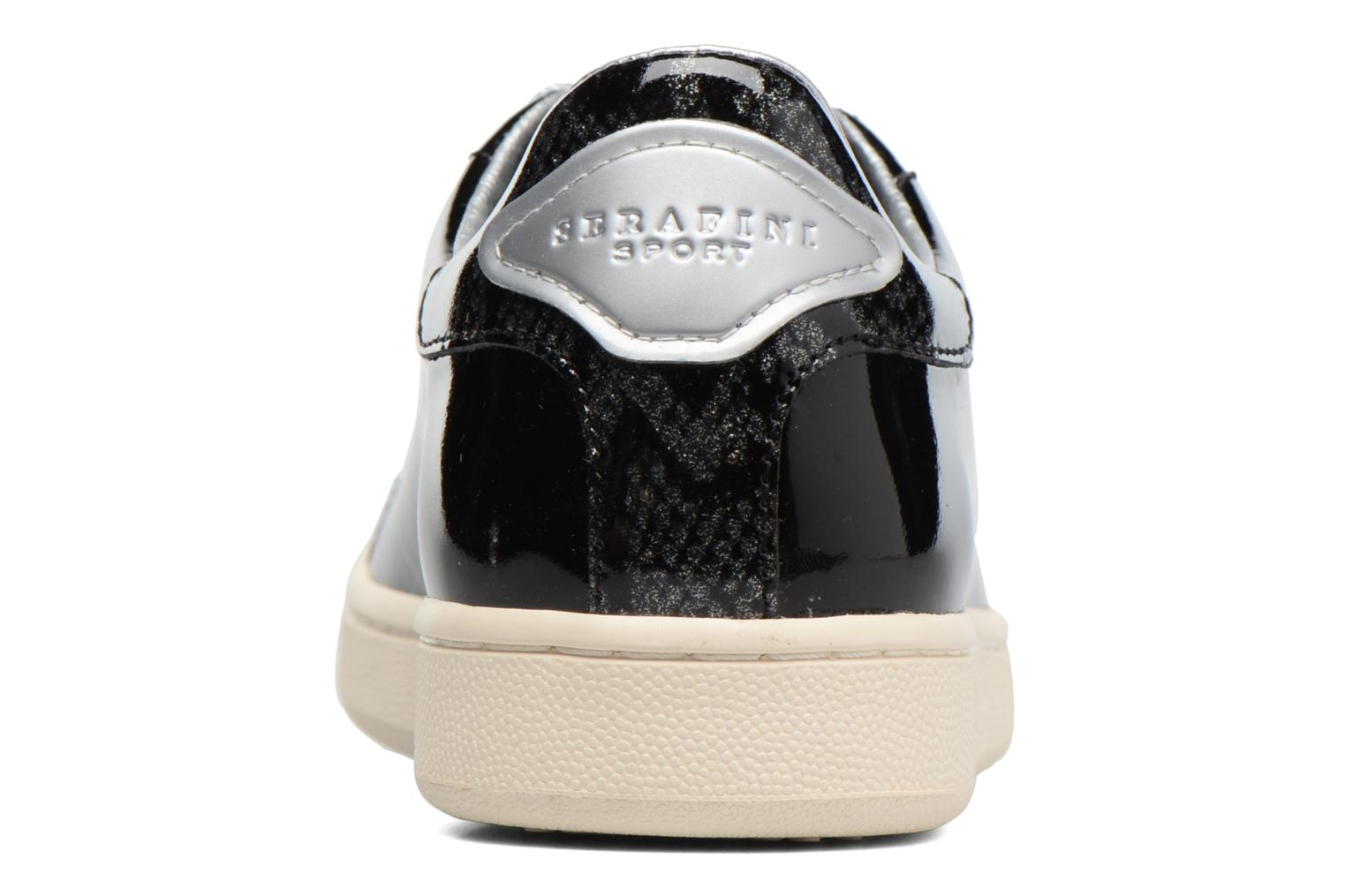 Trainers Serafini J.Connors Black view from the right