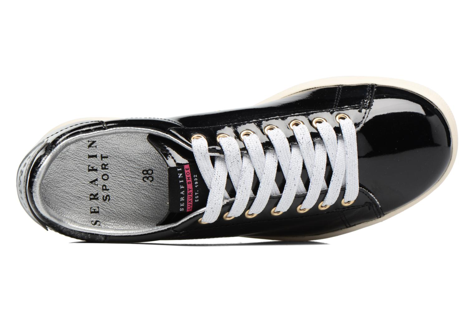 Trainers Serafini J.Connors Black view from the left