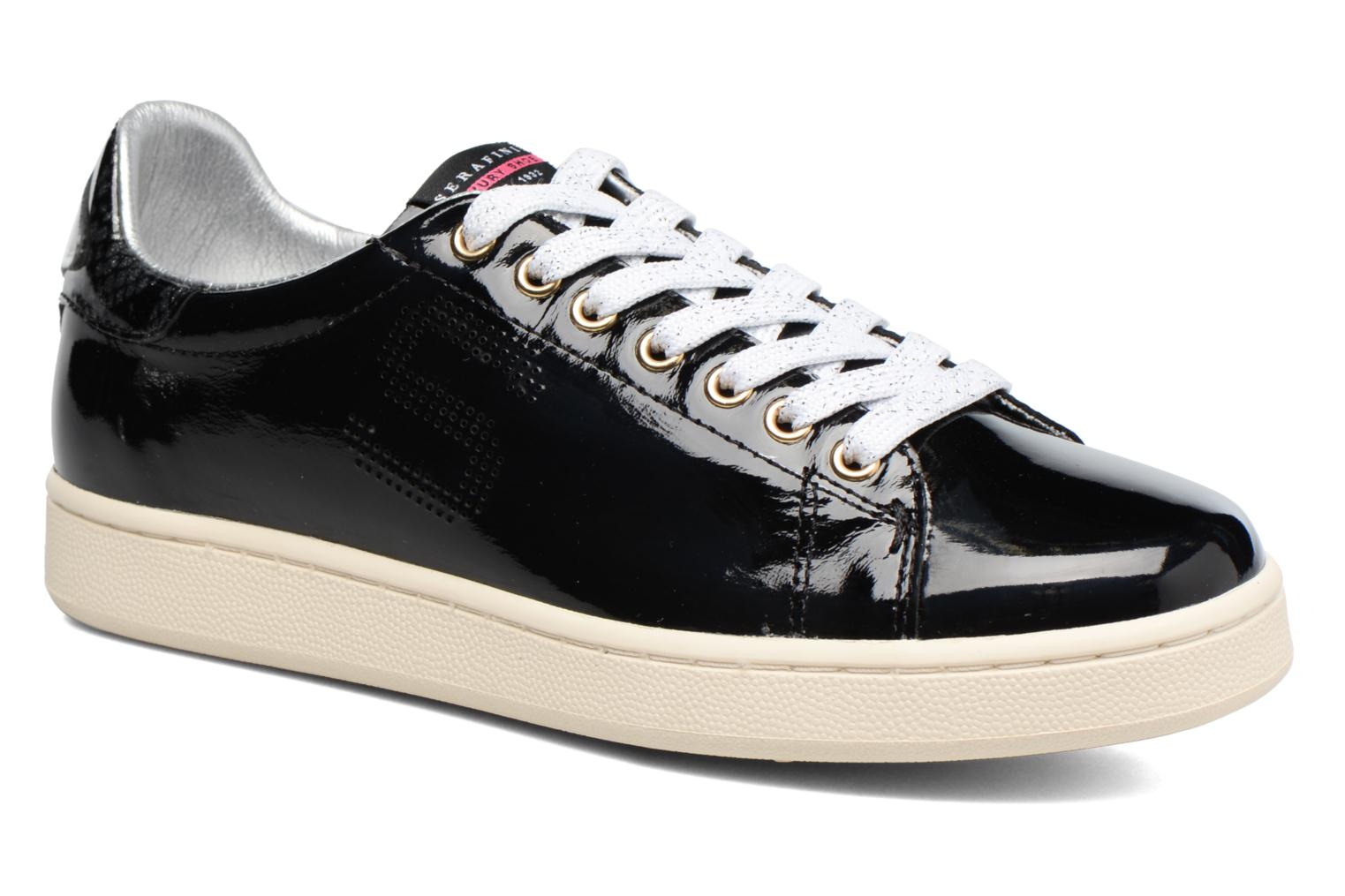 Trainers Serafini J.Connors Black detailed view/ Pair view