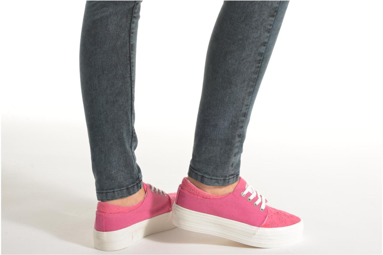 Sneaker Coolway Dea rosa ansicht von unten / tasche getragen