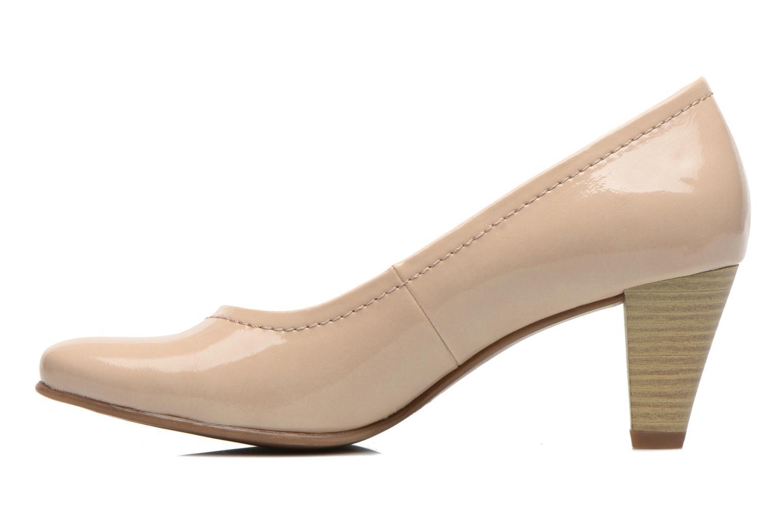 Zapatos de tacón Jana shoes Bossy Beige vista de frente