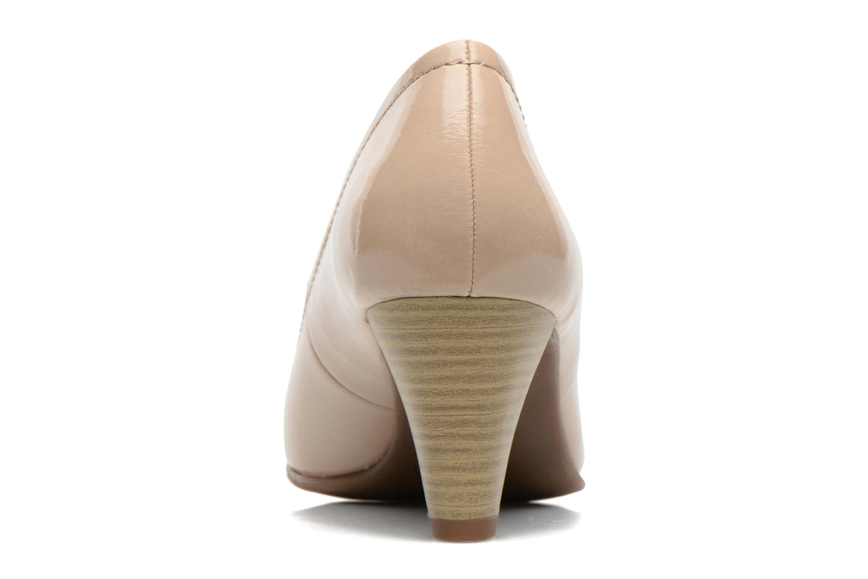 Zapatos de tacón Jana shoes Bossy Beige vista lateral derecha