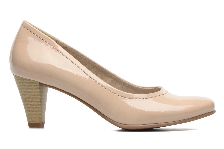 Zapatos de tacón Jana shoes Bossy Beige vistra trasera