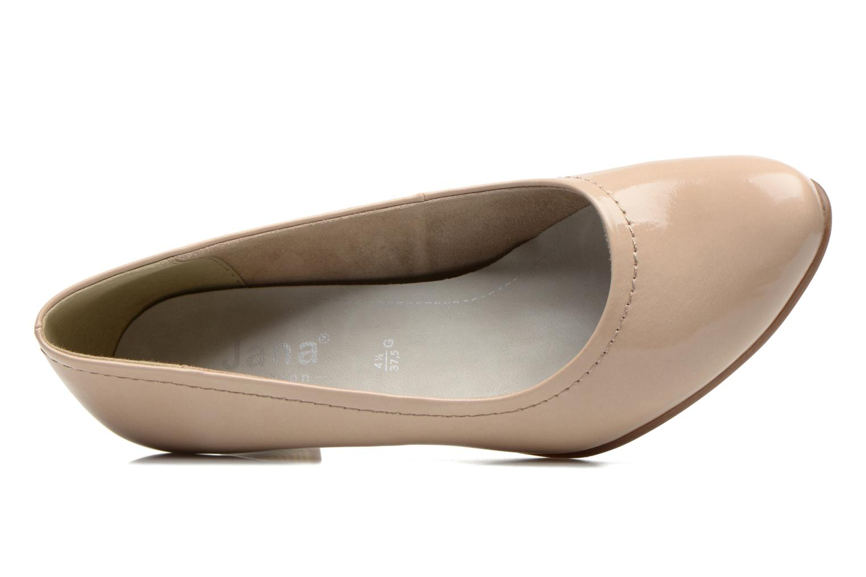 Zapatos de tacón Jana shoes Bossy Beige vista lateral izquierda